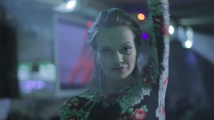 Best go-go girl dancing at nightclub, flirting with camera   Shutterstock HD Video #6638645