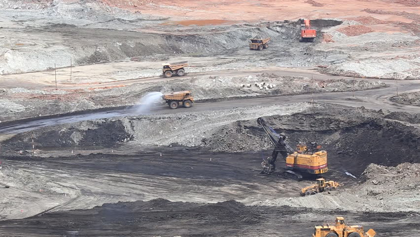 Production useful minerals. the dump truck at mining coal  | Shutterstock HD Video #6710182