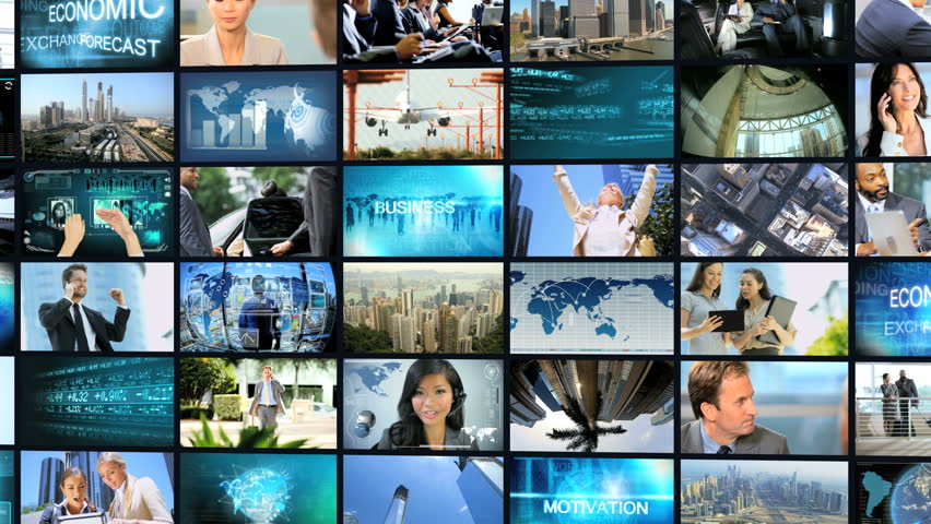 3D video montage wall of multi ethnic male female business meetings communication touch screen deal   Shutterstock HD Video #6725998