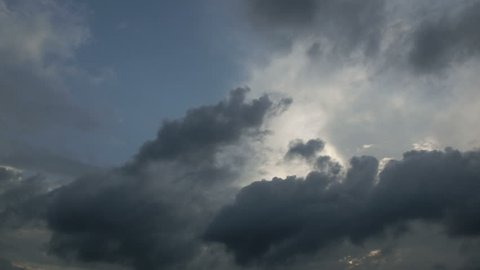 Time lapse view of storm skies during the rainy season in Japan. Rapid mysterious cloud movement over the megalopolis.