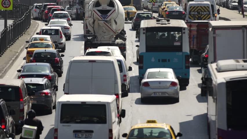 Traffic in Istanbul Turkey   Shutterstock HD Video #6739486
