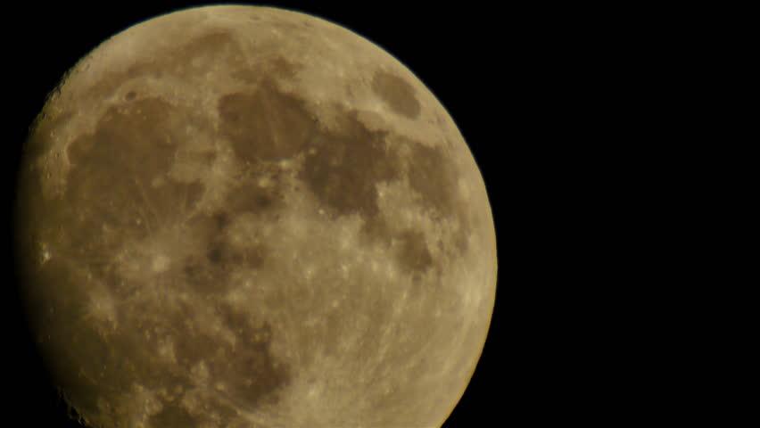 Moon LM24 Telescope Shot | Shutterstock HD Video #6742912