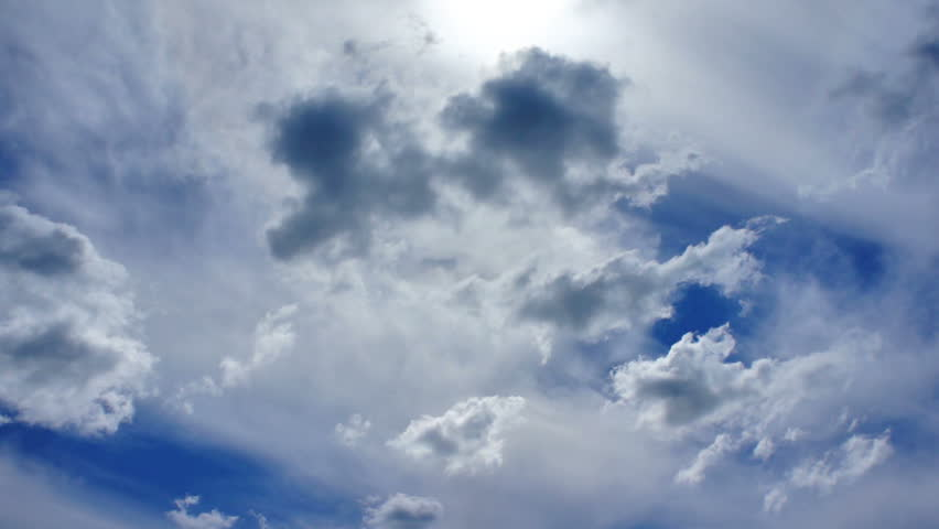 Running fast across the sky clouds | Shutterstock HD Video #6747379