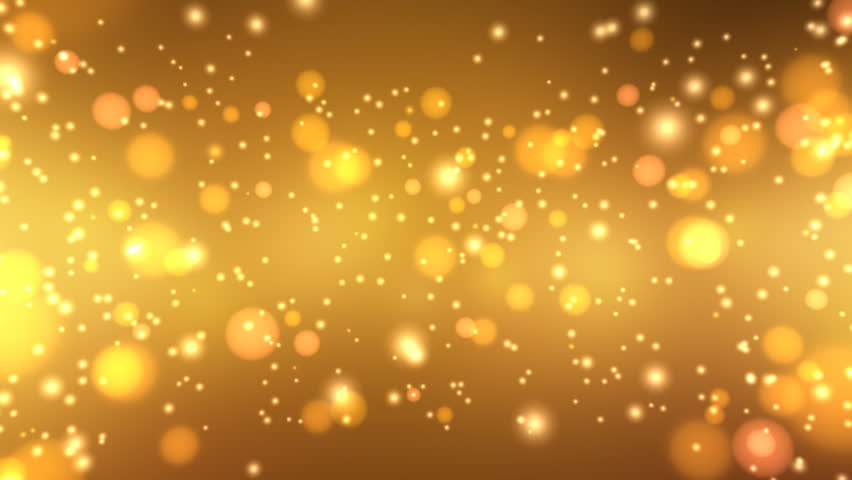Golden Glitters - Motion Background 20 (HD) - 3D motion background with sparkling glitters. Seamless loop. #676642