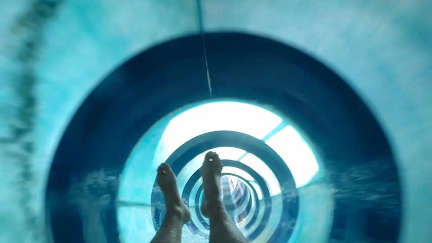 Enjoyment on the water slide at Aqua Park
