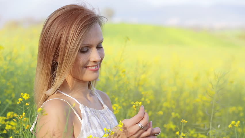 Beauty Girl Enjoying Nature View Stock Footage Video 100 Royalty Free 6784597 Shutterstock