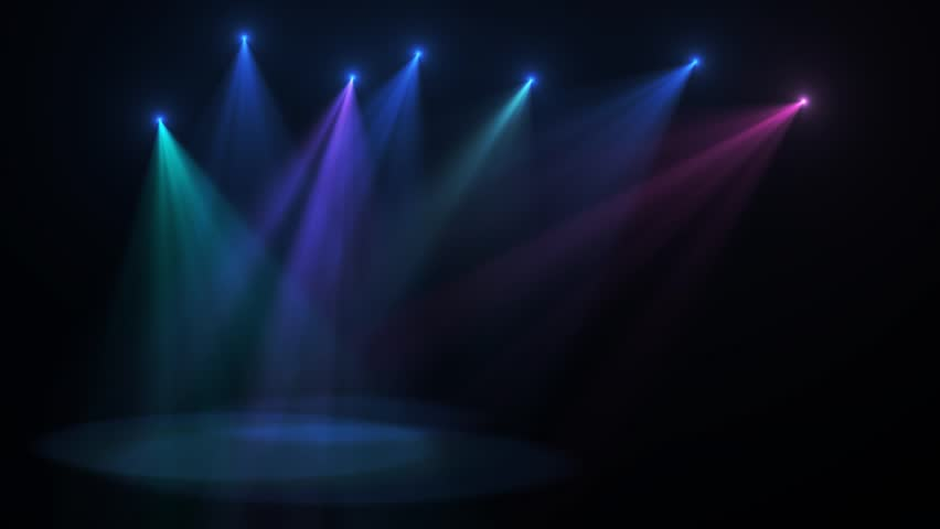 Stage lights moving, motion background, cgi #6796114