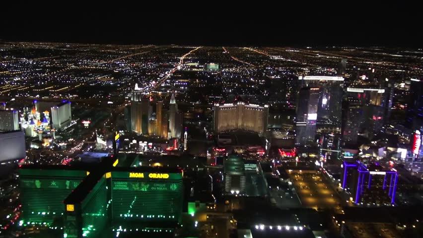 Aerial of South Las Vegas Strip  Aerial of the south Las Vegas strip, Tropicana, Aria, Cosmo, Planet Hollywood (PH), MGM, New York New York, Vdara, Monte Carlo, Hard Rock and City Center.