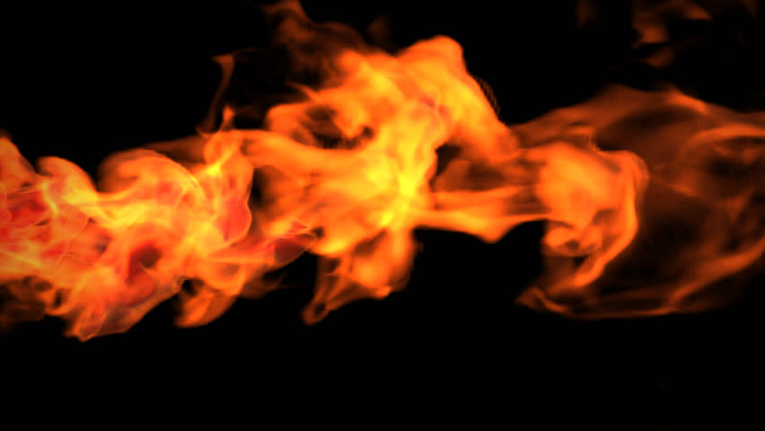 Red fire abstract video, high-definition 3d render, HD 1080p,  Alpha channel is included