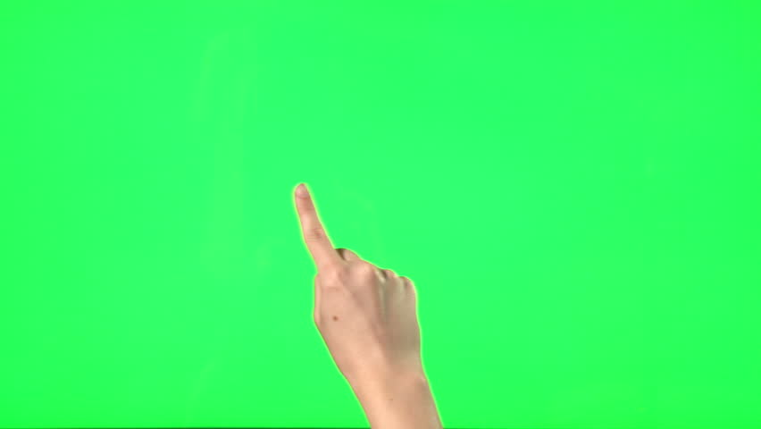 21 touchscreen gestures - female hand - on green screen   Shutterstock HD Video #6836377