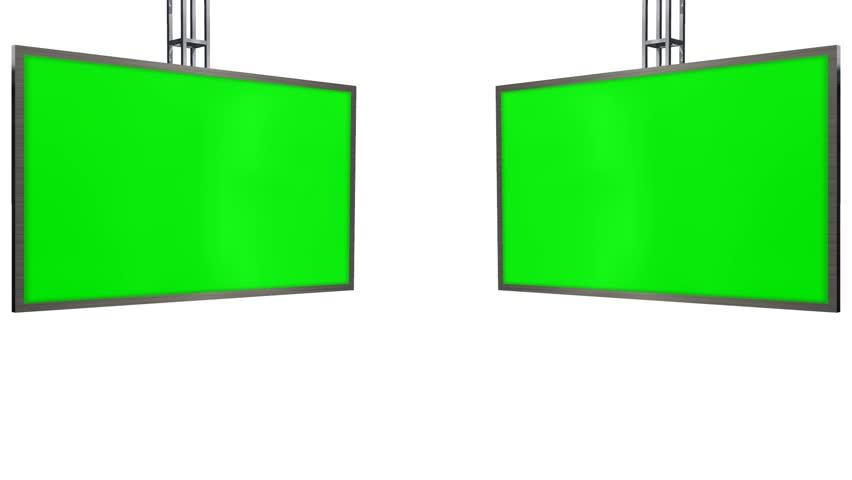 Virtual Studio TV Monitor with green screen animation | Shutterstock HD Video #6874483