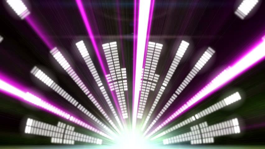 Stage Equalizer with Laser Rays ( Series 8 + Version from 1 to 9 )  | Shutterstock HD Video #6876793