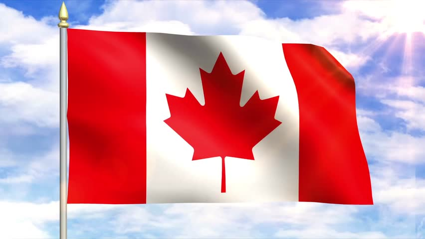 Flag Of Canada Rica Sky Background
