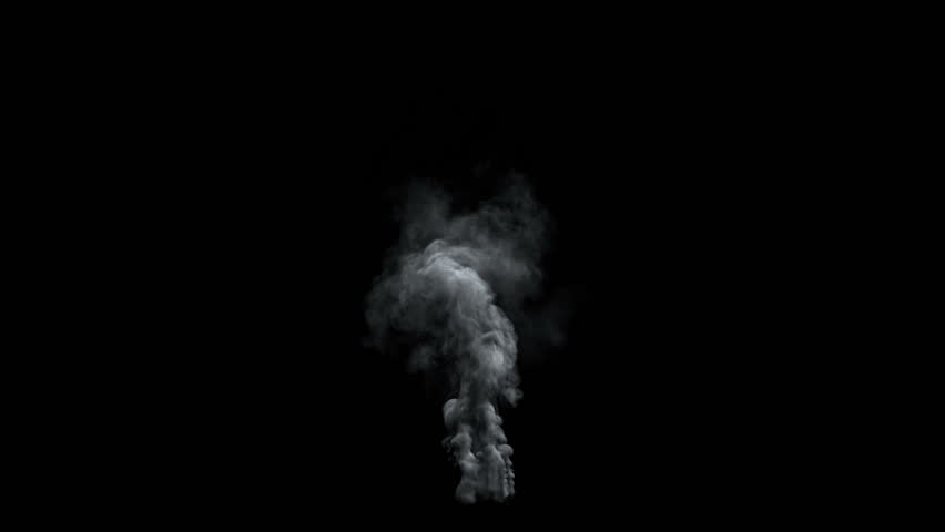 High-detailed dark smoke, with alpha (high definition, 1080p, seamless loop) back lit #6887284