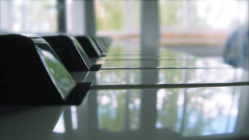Piano keyboard with reflections | Shutterstock HD Video #6903769