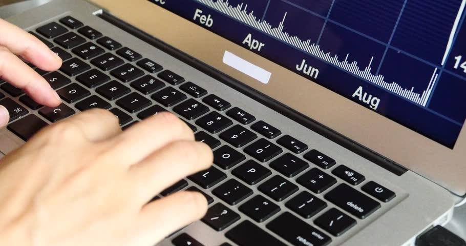 4k computer notebook laptop keyboard input closeup,write article,writing report. gh2_08263_4k | Shutterstock HD Video #6918364