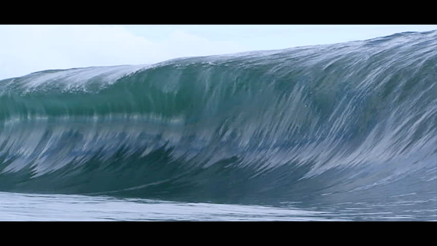 Waves rising and breaking, slow motion, close-up   Shutterstock HD Video #6920845