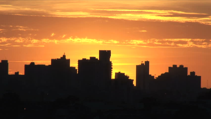 Sunrise Timelapse - Magnificent. View of the city at sunrise #6934753