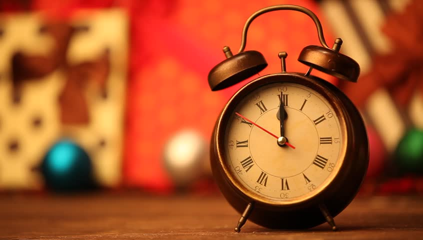 Retro Alarm Clock And Christmas Stock Footage Video 100 Royalty Free 6935674 Shutterstock