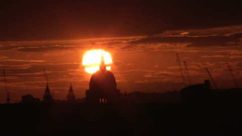 """sunset """"Saint Paul's Cathedral"""""""