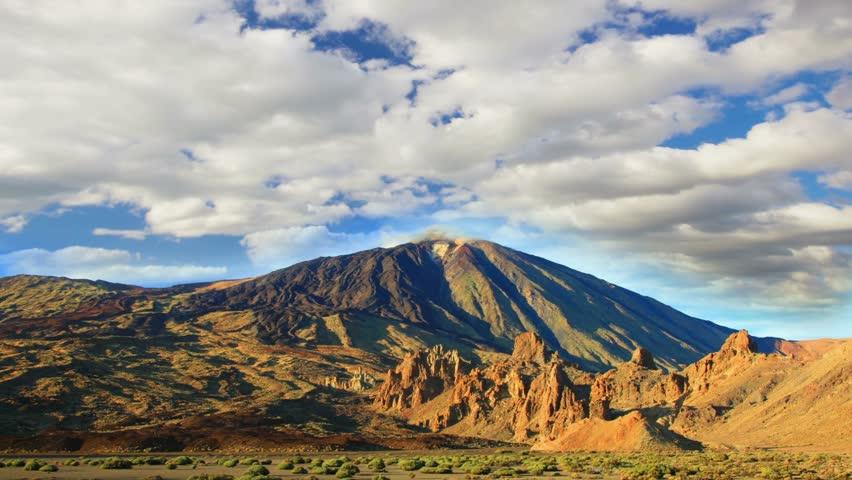 Summer mountains  landscape. Teide volcano, Tenerife, Canary islands, Spain, tim | Shutterstock HD Video #6954847