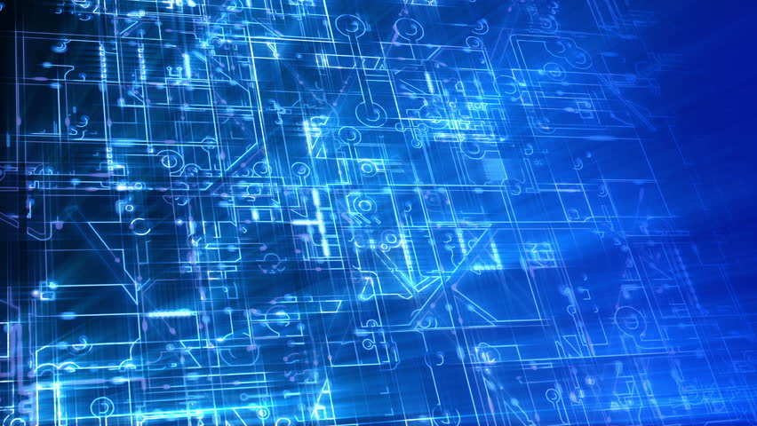 Abstract electronic circuits loop. Technology background animation. Stylized circuit boards, depicting computers, networks etc. Blue version. In 4K ultra HD and smaller sizes. | Shutterstock HD Video #6966058