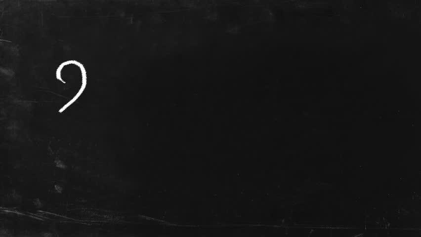 Simple math operation writing chalk on blackboard. 2+2=4. HD, include alpha channel. | Shutterstock HD Video #700819