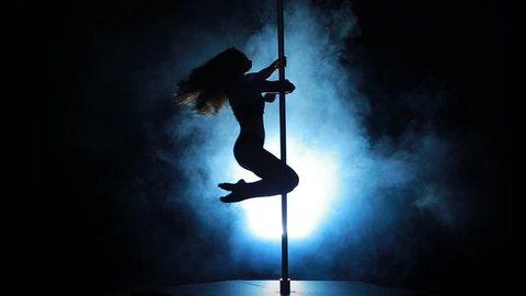 Beautiful Girl Dancing Pole Dancing Stock Footage Video (100 ...