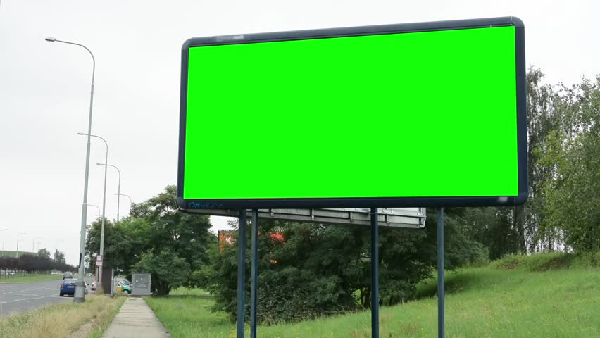 Billboard on the road - green screen | Shutterstock HD Video #7010086
