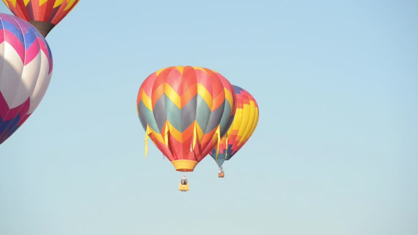 RENO, NEVADA USA - SEPTEMBER 07: The Great Reno Balloon Race on September 07 2013, in Reno Nevada. It is the largest free hot air ballooning event in the nation.   Shutterstock HD Video #7018438