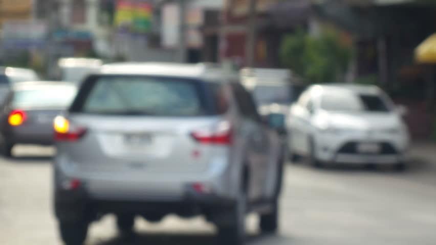 Blurred of car in city | Shutterstock HD Video #7041184