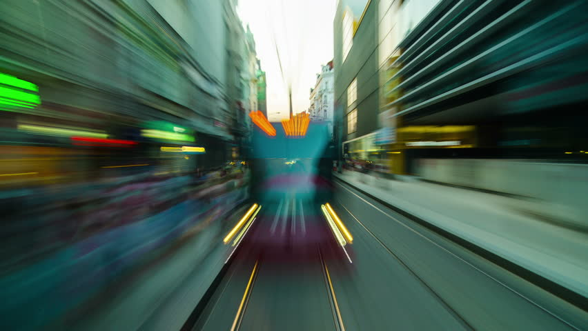 Prague, Czech Republic, July 2014 - Timelapse from tram moving through the streets of Prague. | Shutterstock HD Video #7045567