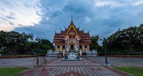 4K Timelapse Movie of Thai Temple, Songkhla, Thailand