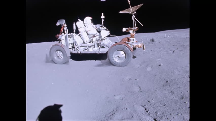 CIRCA 1970s - Apollo 11 lunar rover on the moon.