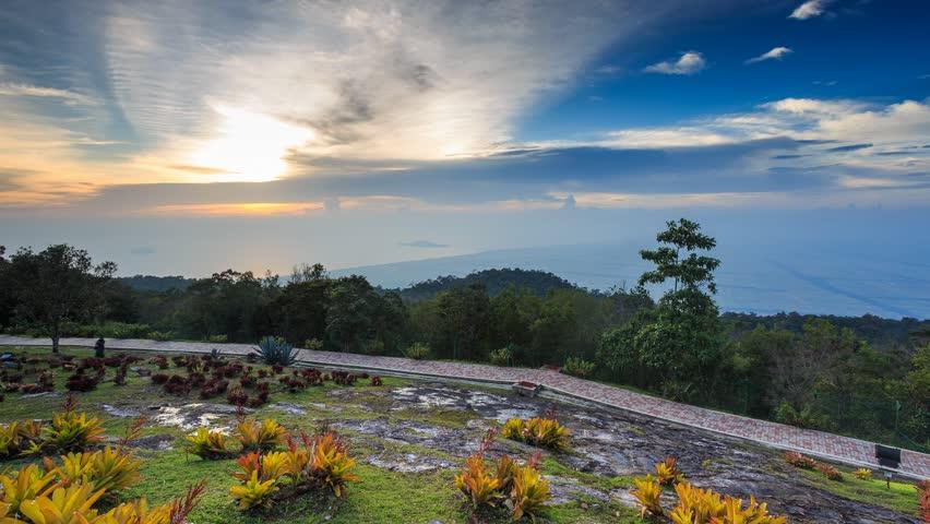 Mount Jerai Or Gunung Jerai Stock Footage Video 100 Royalty Free 7137985 Shutterstock
