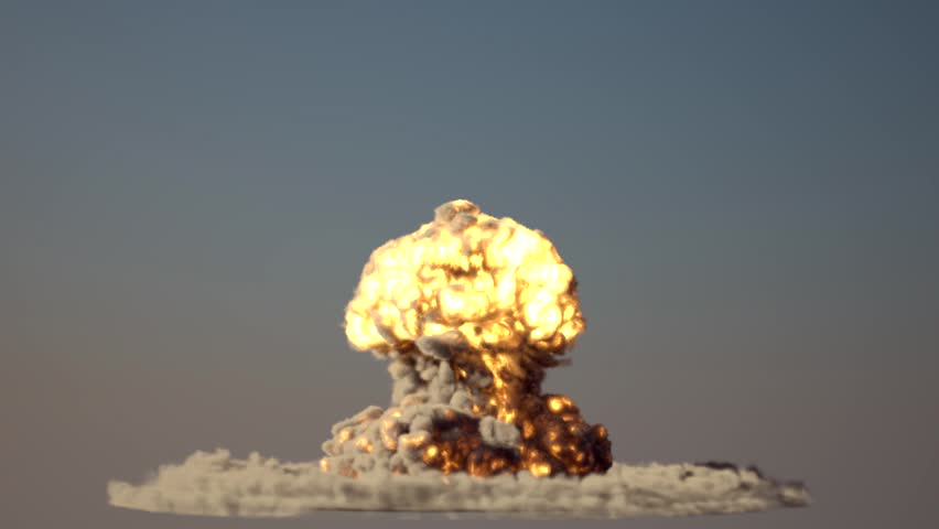 nuke explosion with alpha mask