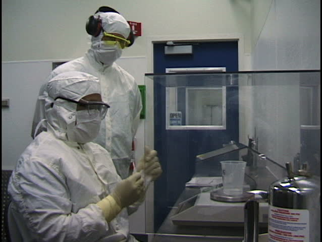 Clean-Room Technicians Weigh Product Contents for Quality Control