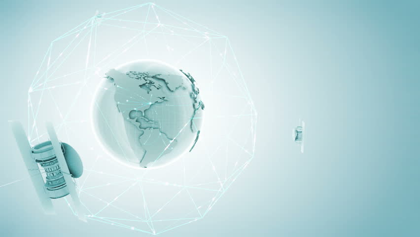 Globe with network on a light background. Data packets moving between continents Last 2 seconds of this footage is seamless loopable    Shutterstock HD Video #717871
