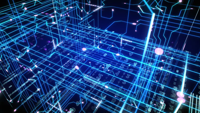 Futuristic technological video, motion background, seamless loopable.   Shutterstock HD Video #7178953