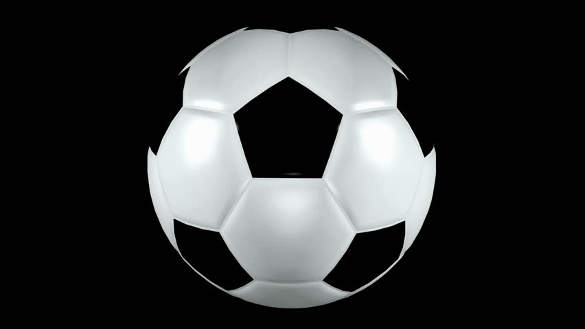 Seamless loop Soccer Ball Animation 1. Isolated on black