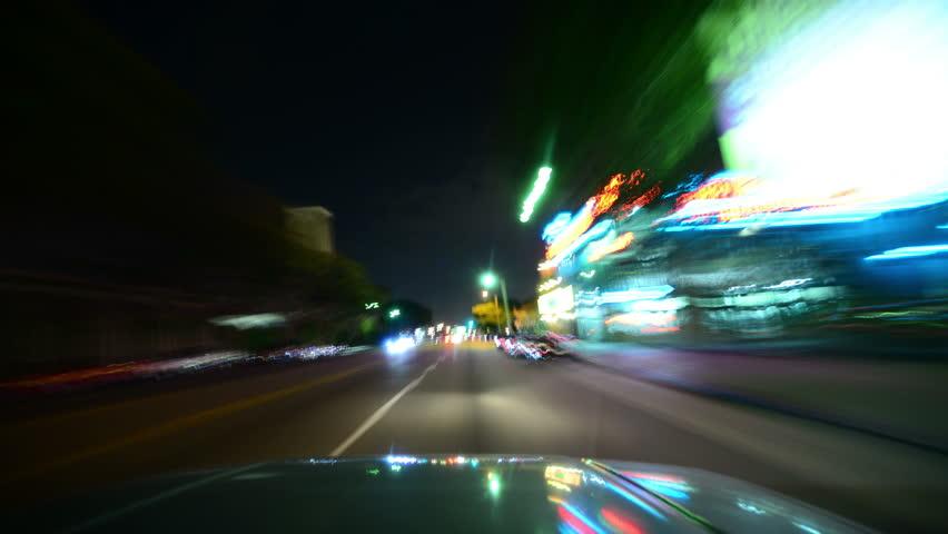 LOS ANGELES - CIRCA 2014  Driving Hyperlapse 18 Los Angeles Night Cityscape   Shutterstock HD Video #7212652