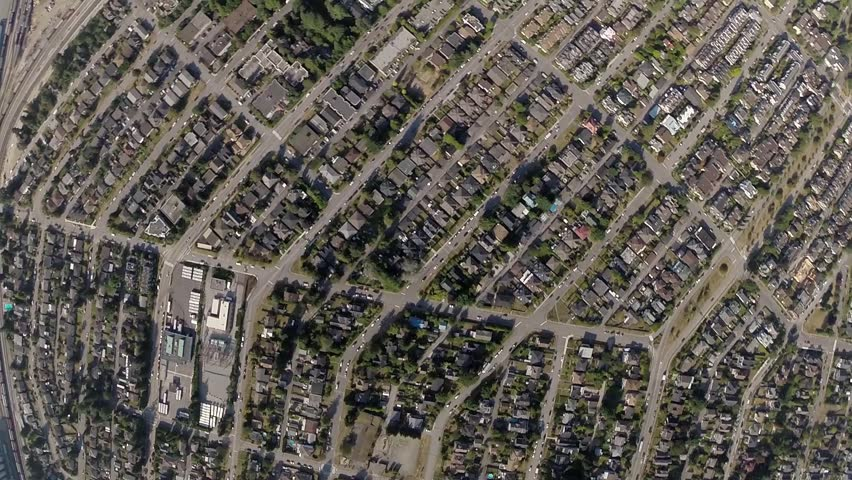 Aerial view of Lower Londsale area North Vancouver BC Canada   Shutterstock HD Video #7227673