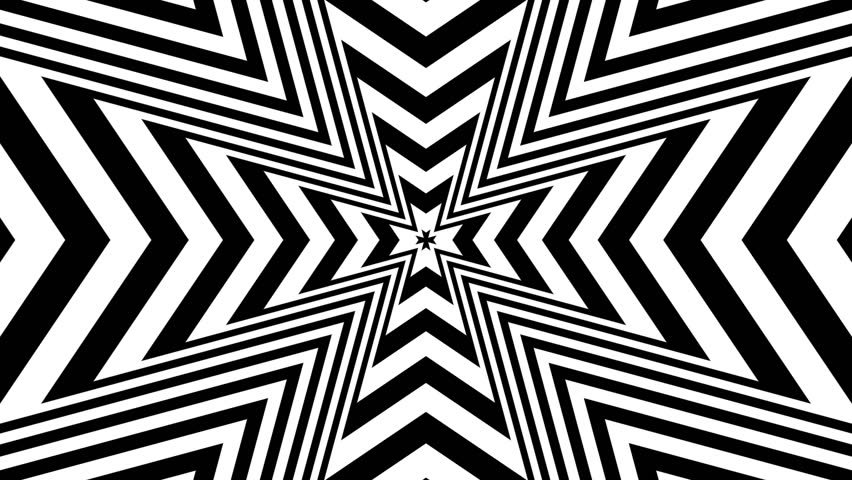 Concentric oncoming abstract symbol - Maltese Cross Heraldry - optical, visual illusion   Shutterstock HD Video #7231171