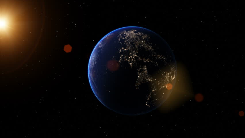 Realistic Earth globe zoom and dock on South America 4K #7267123