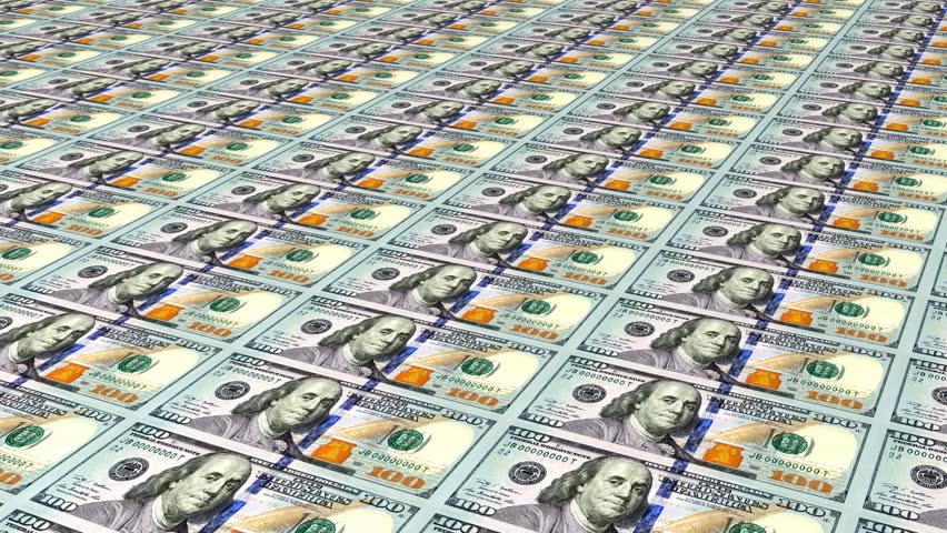 Hundred Dollar Bills Sheets Angle Loop