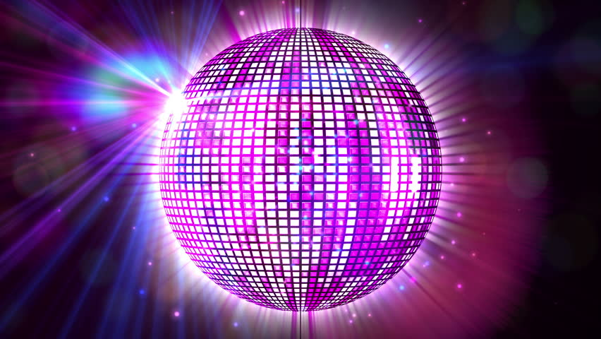 Digital animation of Shiny purple disco ball spinning around | Shutterstock HD Video #7286995