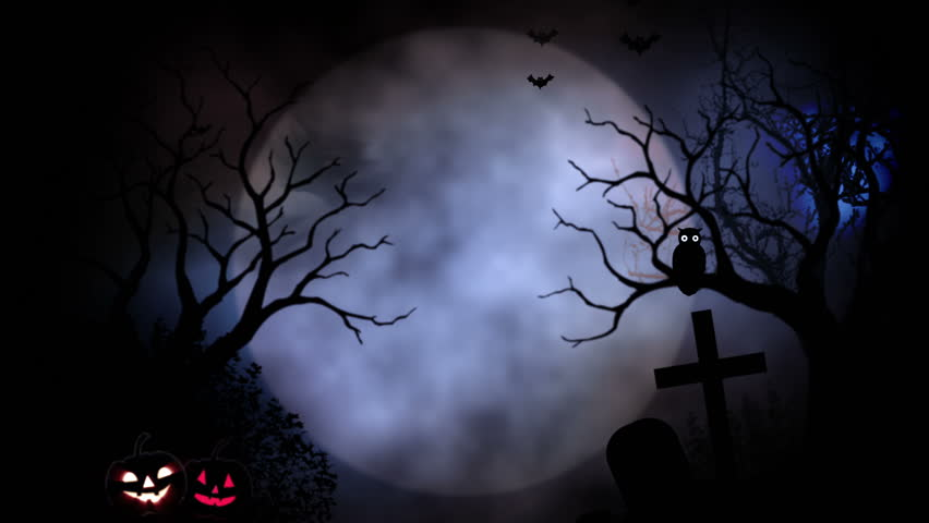 Animated stylish background useful for halloween,spooky, scary, haunted, eerie, ghost, or terror. background with the elements during Halloween such as, ghost, bats, pumpkins, and so on. | Shutterstock HD Video #7305442