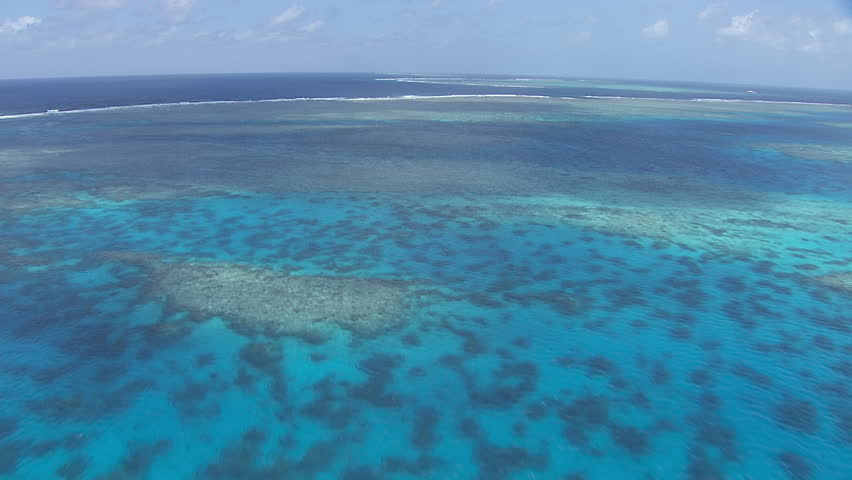 Aerial view of the Great Barrier Reef #7384366