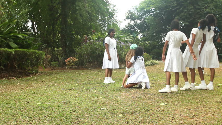 School girls Kandy Sri Lanka 3697 Stock Photo, Royalty