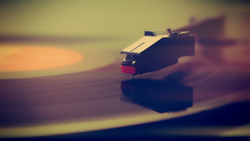 Record player turntable close up stock footage | Shutterstock HD Video #7404730